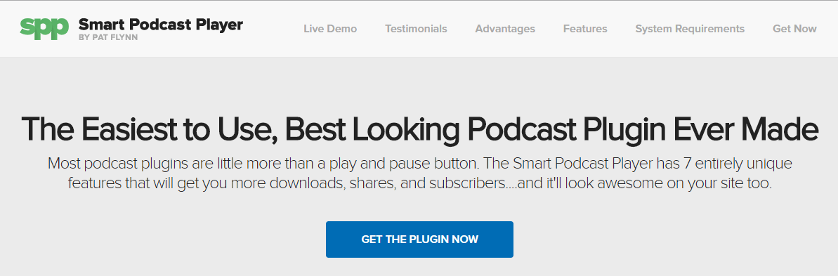 The Smart Podcast Player WordPress Plugin Page