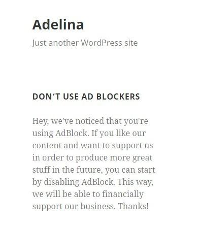 ad blocker detector widget