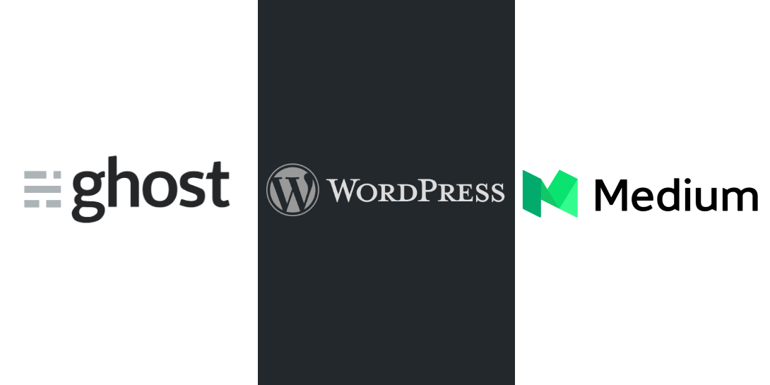WordPress vs Ghost vs Medium