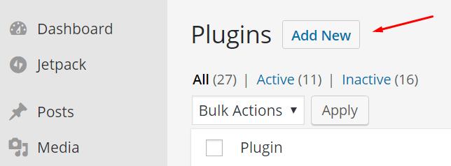 add new plugin in WordPress
