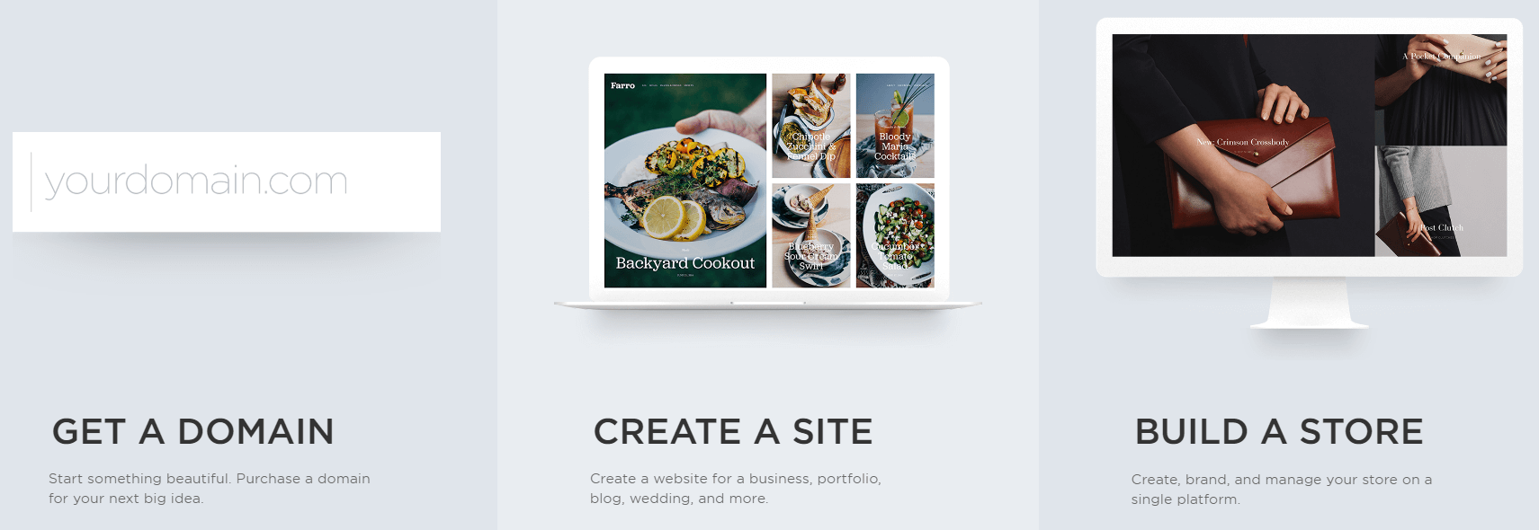 A screenshot from Squarespace's Getting Started process.