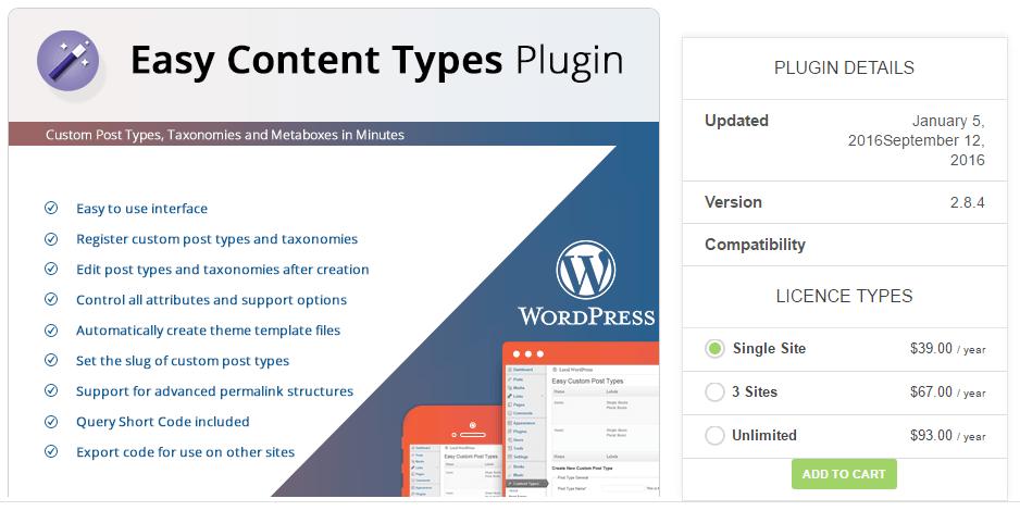 Easy Content Types