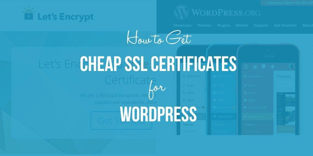 Cheap SSL Certificates for WordPress