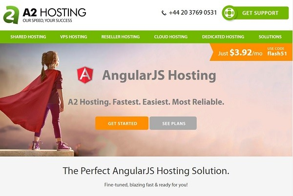 A2 Hosting for AngularJS