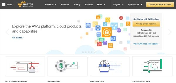 Amazon Web Services Home Page
