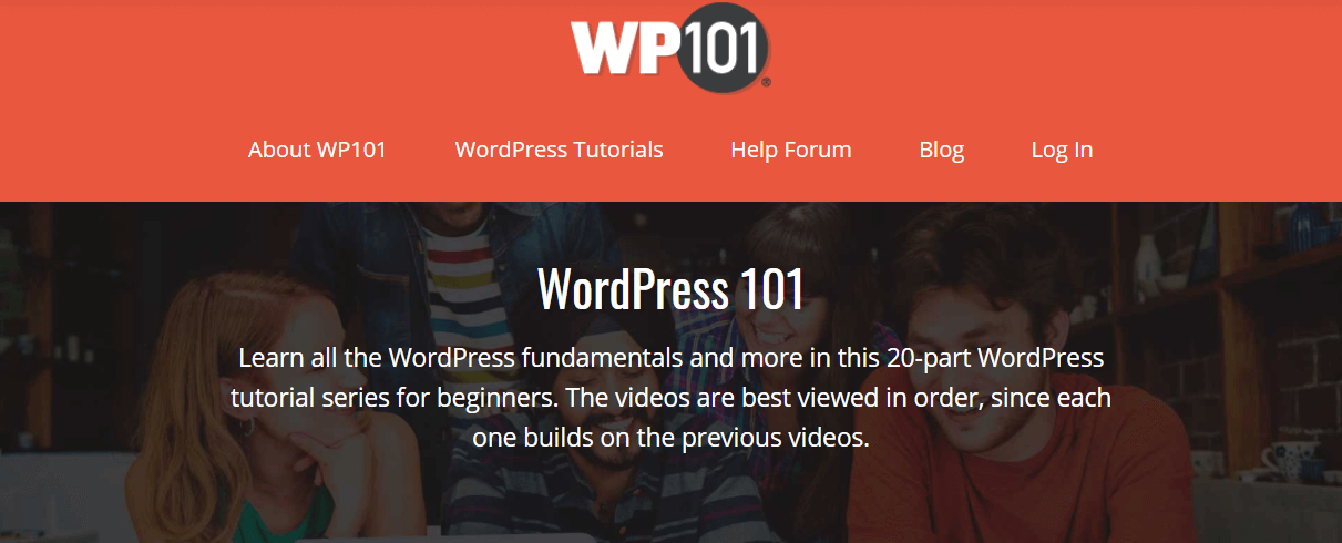 The WP101 website.