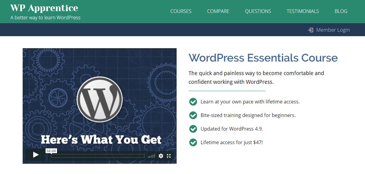The WP Apprentice website.
