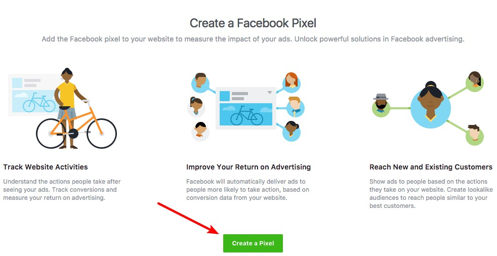 create a new facebook pixel