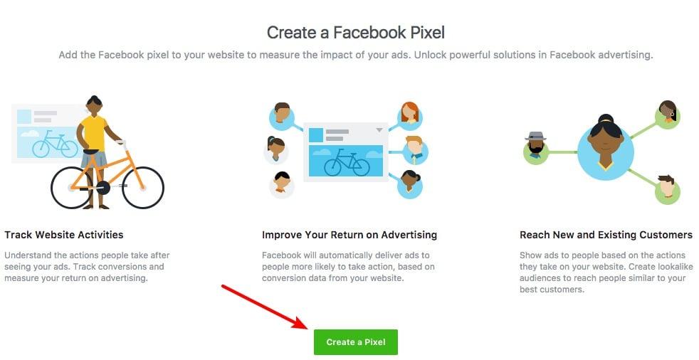 create a new facebook pixel