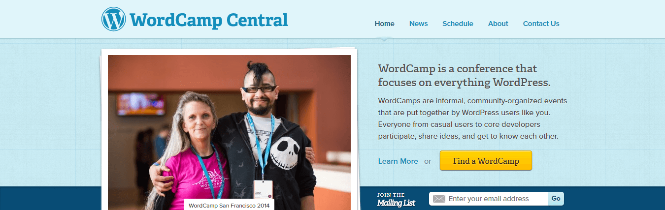 The WordCamp website.