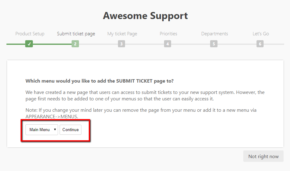 submit ticket page 2