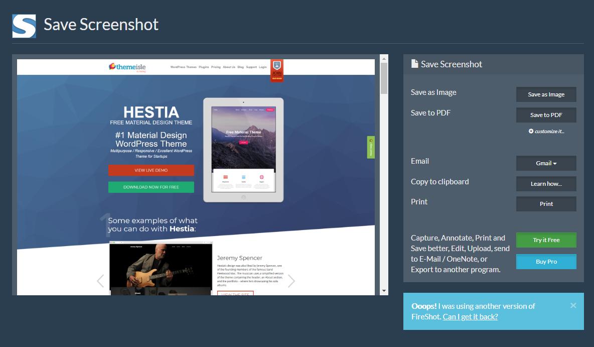 save screenshot