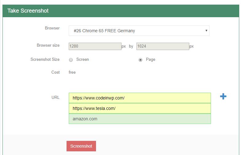 URL screenshot