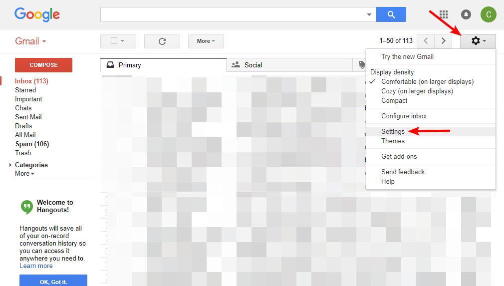 access gmail account settings