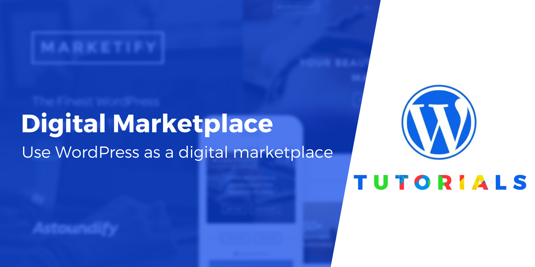 digital product marketplace on WordPress