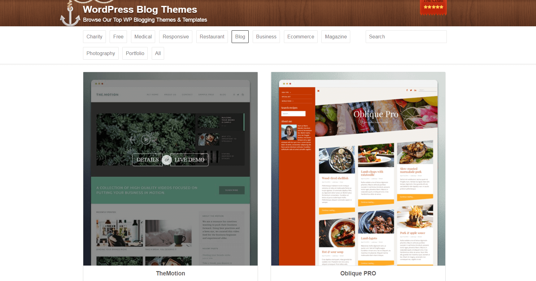 Blog themes on ThemeIsle.