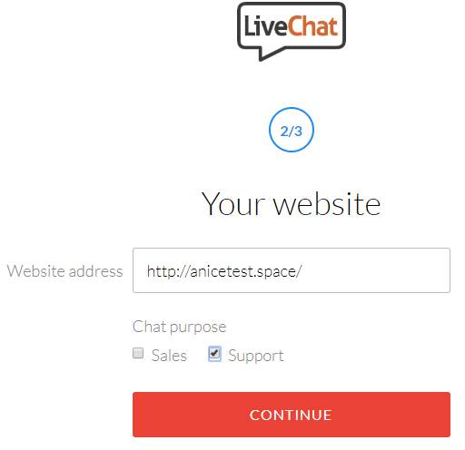 how to create live chat in website